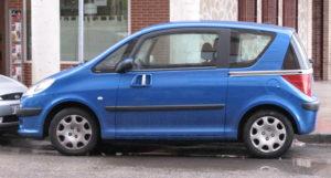 Peugeot 1007 - Vista laterale della porta scorrevole