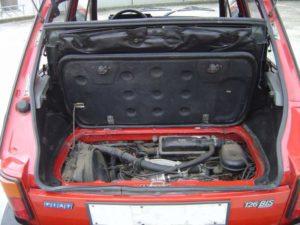 Fiat 126 Bis - Bagaglio e motore