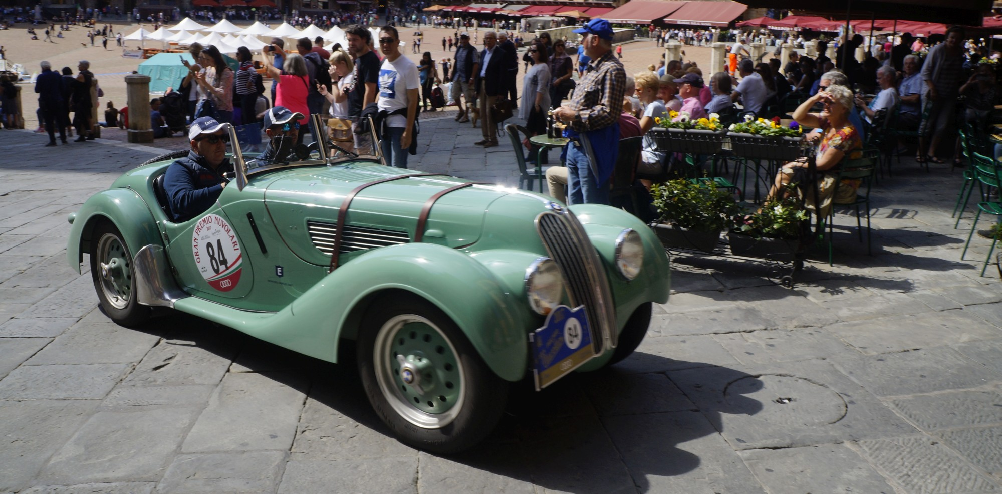 BMW 328 1939 - Vesco Guerini - Gran Premio Nuvolari 2017 - Piazza del Campo (SI)