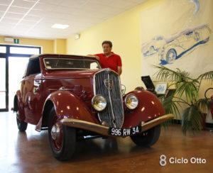 Peugeot 301 D Cabriolet con Daniele Bellucci