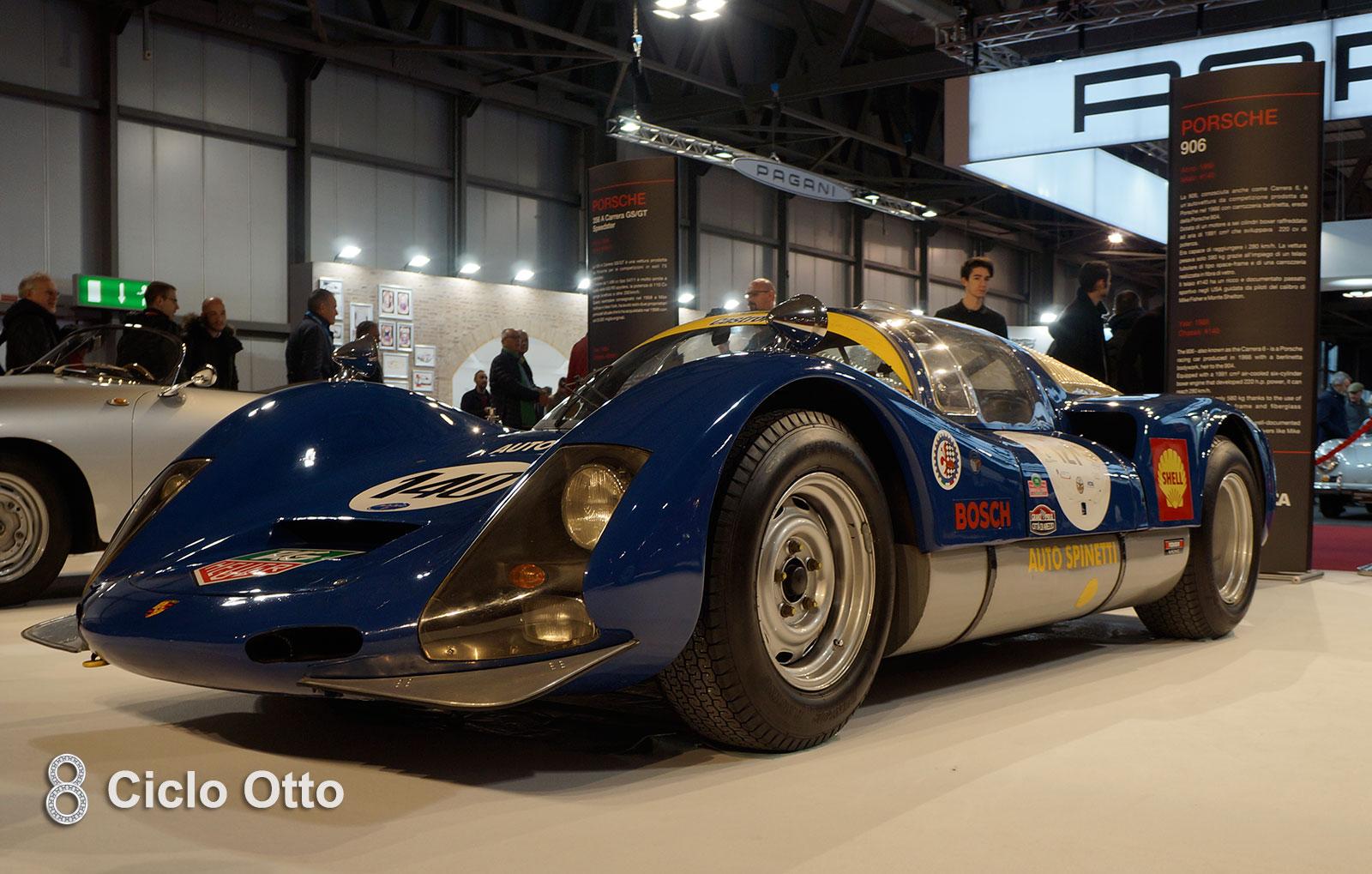 Porsche 906 - Stand di apertura Milano Autoclassica 2018
