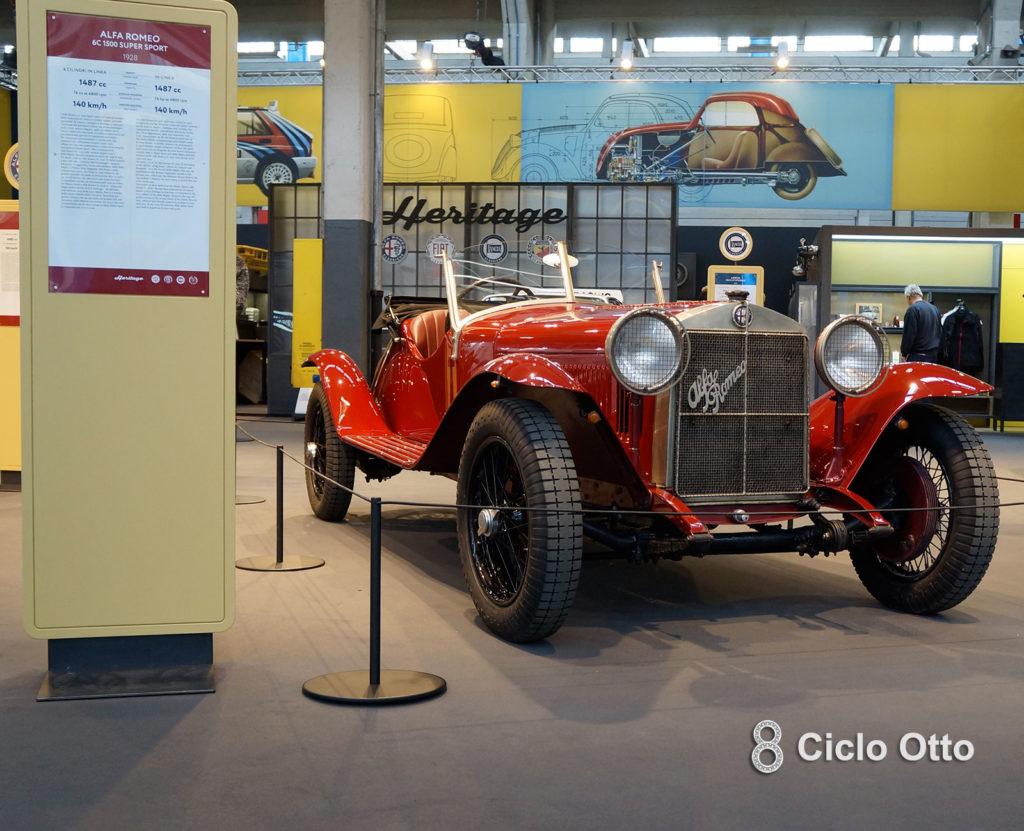 Alfa Romeo 6c 1500 SS - Stand FCA - Automotoretro 2020
