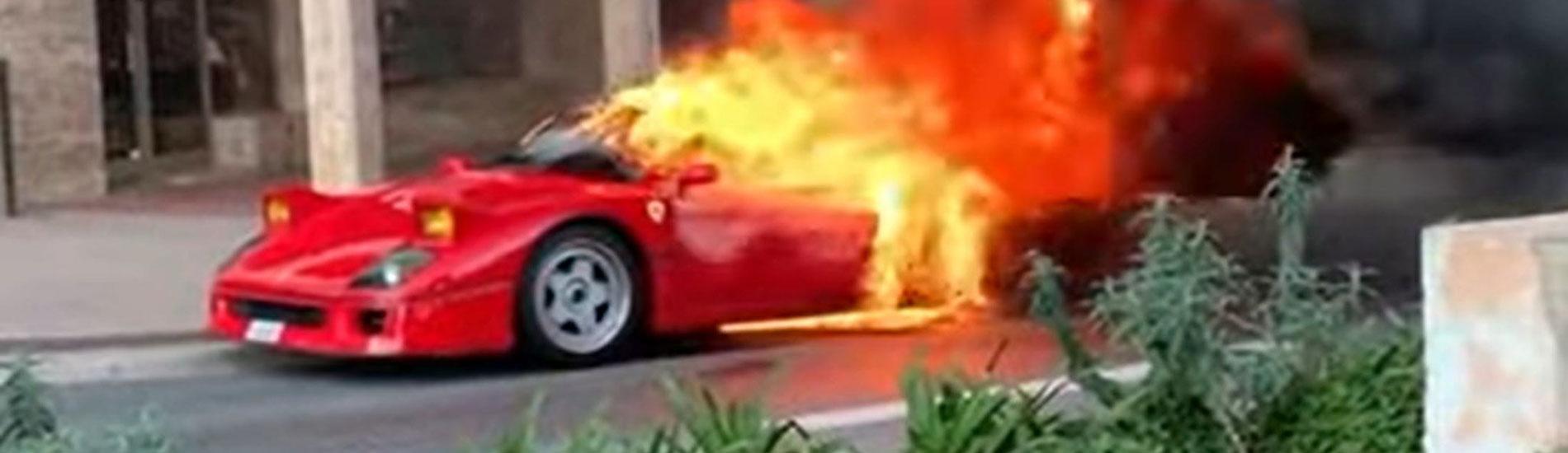 Ferrari F40 - Fiamme