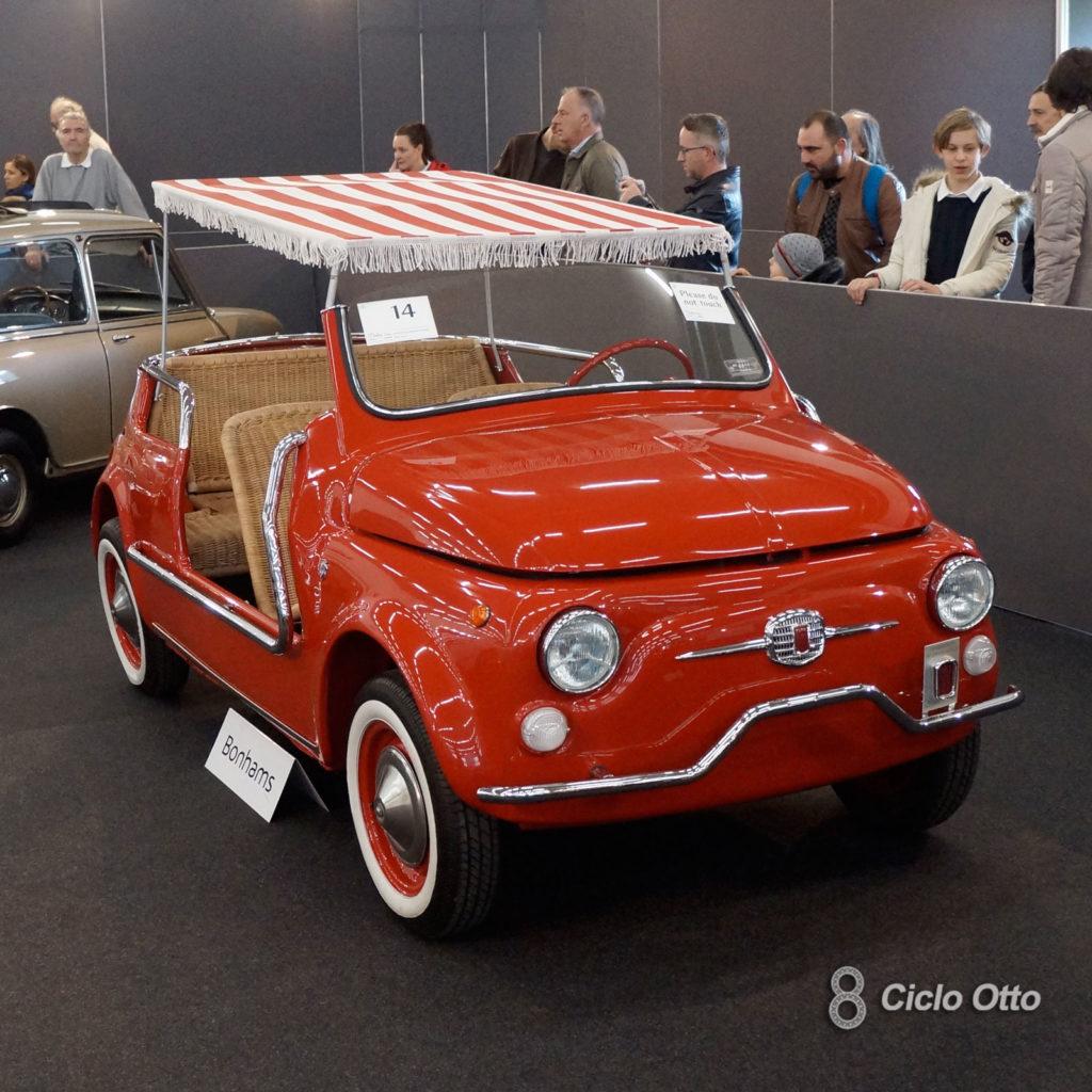 Spiaggina: Fiat 500 Jolly Ghia (Replica) - Asta Bonhams, Padova 2018 - Immagine Ciclootto