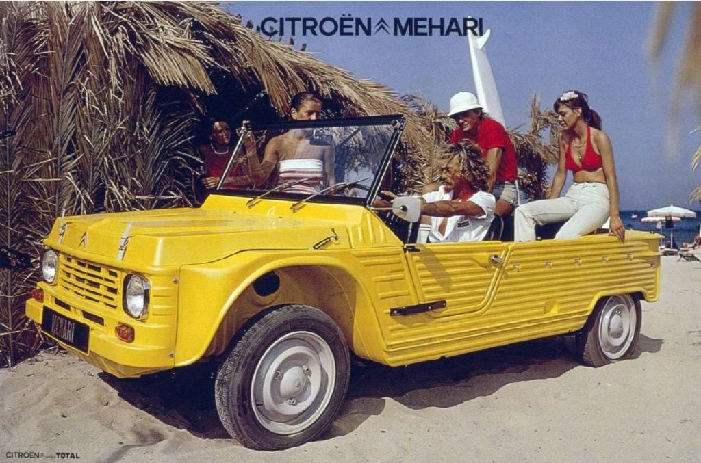 Spiaggina: Citroen Mehari - Pubblicità in spiaggia