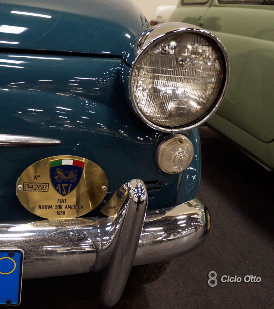 Fiat 500 America - Le modifiche anteriori: Proiettori anteriori, frecce e rostri - Immagine (c) Ciclootto.it