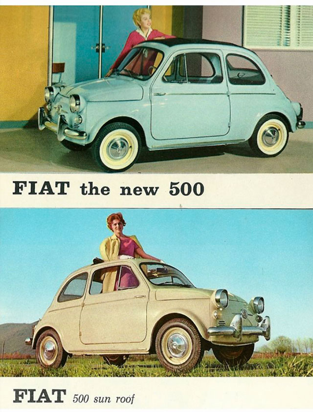 Volatino Pubblicitario Fiat 500 America