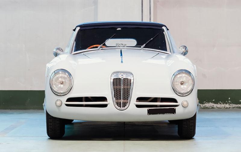 Lancia Aprilia Spider Basso - Ghia: Frontale - Immagine Aste Bolaffi