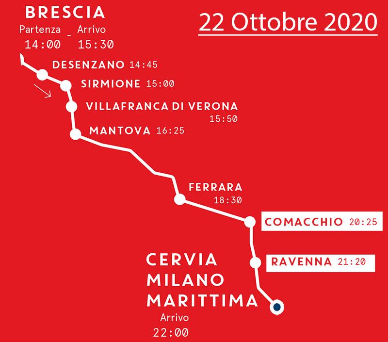 Mille Miglia - MAppa Prima Tappa - 22 Ottobre 2020