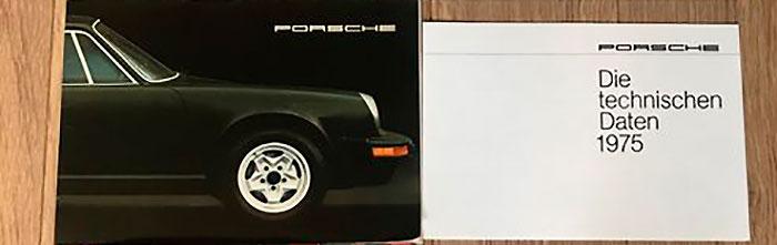 Porsche 911 Carrera 3.0 - Particolare della brochure tecnica