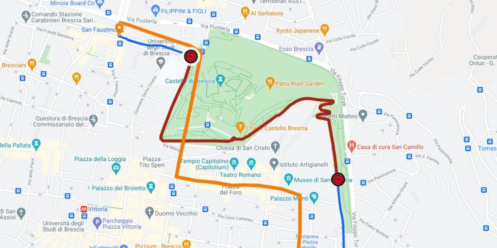 1000 Miglia 2021 - Dettaglio del passaggio a Brescia